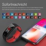 Juboury Fitness Armband mit Pulsmesser Blutdruckmesser, Fitness Tracker Smartwatch Wasserdicht IP68 Aktivitätstracker Schrittzähler Uhr Damen Herren Farbbildschirm SMS für iPhone Android Handy - 5