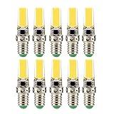 Lampadine a doppio ago con lampada al silicone E14 a LED 3W, lampada a risparmio energetico COB (lampada alogena sostitutiva equivalente 30W) Lampadine a LED, CA 110-130 V (confezione da 10) yd&h