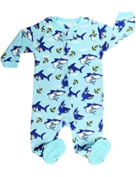 Elowel - Pijama para Bebe Nino, (Talla 6 m-5 Anos), Polar, con Diseno de Tiburon