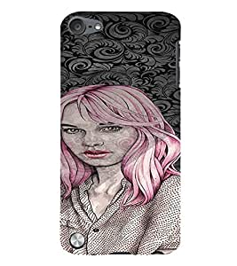 Fuson Amazing Girl Back Case Cover for APPLE IPOD TOUCH 5 5th Gen - D4045