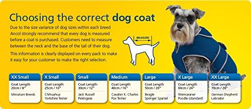 Ancol Hundepullover, gestrickt mit Zopfmuster, Größe L, blau - 2