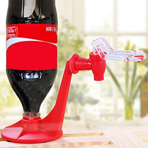 Gugutogo Atractivo Material de Aislamiento Ahorro Botella de Coca-Cola Soda Dispensador de Agua Potable Máquina Gadget Party Home Bar (Color: rojo)