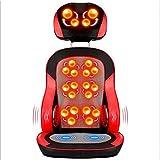 WEDEHANGE Massagesessel Nacken- Und Ganzkörper-Shiatsu-Massage-Sitzkissen Mit Warmgewalzter Knetschwingung Für Home-Office-Autos,Red