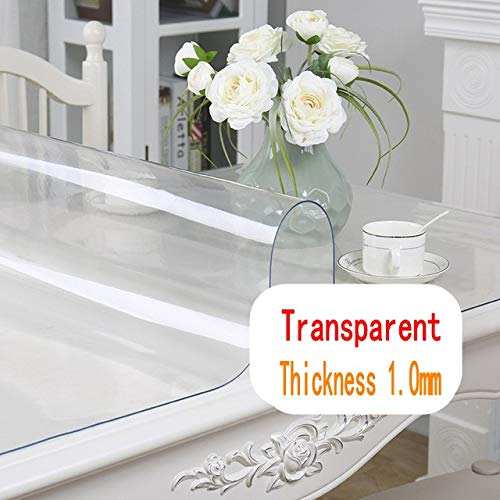 Mantel protector mesa PVC transparente impermeable