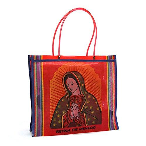 Fantastik - Bolsa de rejilla Virgen de Guadalupe roja