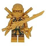 LEGO Ninjago Minifigur Goldener Ninja Figur Lloyd Gold mit 7 Waffen