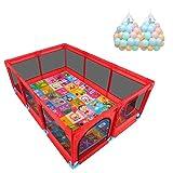 Laufgitter laufstall Twin Baby-Laufstall, großer Sicherheits-Leichtspielstift for Neugeborene, mit stabilen Basen, Anti-Rutsch-Auflage (Color : Blue)