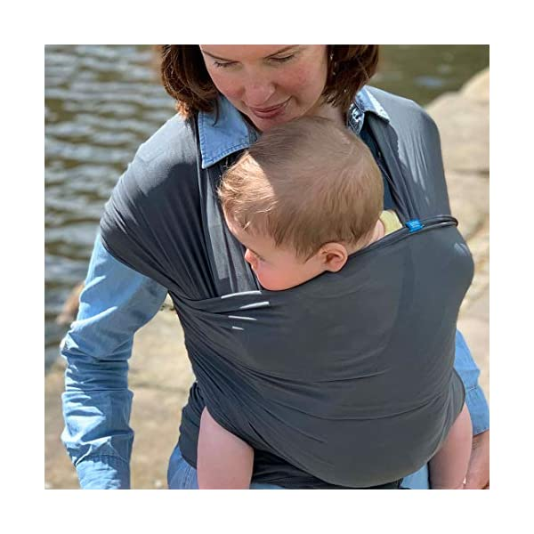 We Made Me Flow, Super Stretchy, Cool & Comfortable Baby Carrier for Infants from 3.6-15.9 kg, Midnight Black Diono Nurture Your Bond From Birth: Low helps to build on your natural bond, hands free and while on the go, helping new parents to keep that close connection after birth all the way up to 15.5 kg The Lightest Wrap of It's Kind: The super flexible construction makes Flow one of the lightest soft carrier wraps on the market (0.58 kg versus 0.8 kg in average) Breathable Air Flow Mesh: The self-regulating air flow mesh material helps to keep you and baby cool and comfortable, perfect for the hot summer months 11