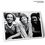 LaMAGLIERIA Poster Bob Marley, Mick Jagger and Peter Tosh - sur Papier Photo Brillant - Formato, 30cmx40cm