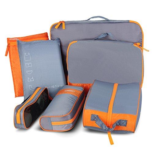 Yarrashop Reisetaschen Set 7-teilig Kleidertaschen in Koffer Reisegepäck Wäschebeutel Schuhbeutel Kosmetik Aufbewahrungstasche