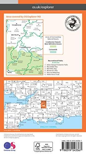 Warminster and Trowbridge 1 : 25 000 (OS Explorer Map)