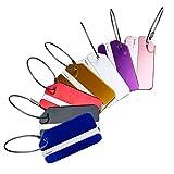 Hibate 7-Stück Kofferanhänger Gepäckanhänger Luggage Tags mit Adressschild - 7 Farbe