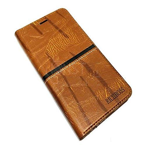 Zocardo Premium Imported Rich Boss Universal Wallet Flip Cover for Xolo Era 4K - Brown