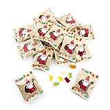 25 Päckchen Gummibärchen give-away FROHE WEIHNACHTEN - Weihnachtsgeschenk Mitgebsel - Kunden Freunde Kinder Gäste Kundengeschenke weihnachtlich Werbegeschenk