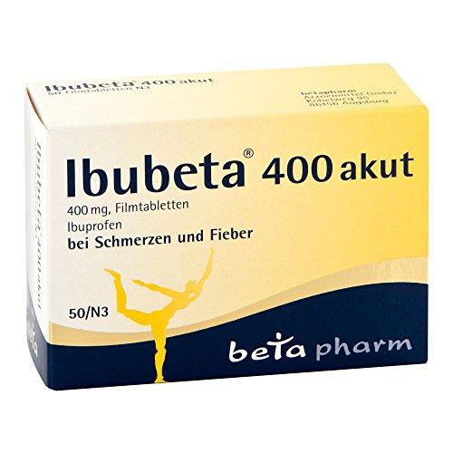 Ibubeta 400 akut 50 stk