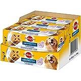 Pedigree DentaStix 2x Wöchentlich Hundeleckerli für große Hunde, Kausnack mit Huhn- und Rindgeschmack gegen Zahnsteinbildung für gesunde Zähne, 1er pack (1 x 6 Stück)