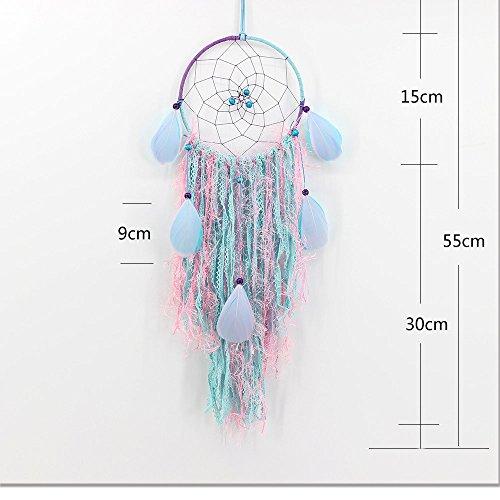 PPT Indian Feder Windspiel Traumfänger Handgemachte Quaste Weben Wandbehang Dekoration,A,2Pcs