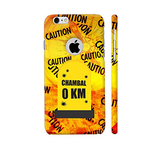 Colorpur iPhone 6 / 6s Logo Cut Cover - Chambal 0 KM Milestone On Blue Printed Back Case