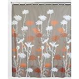 InterDesign 39222EU Daizy cortina de ducha gris / naranja / Brown 183 x 183 cm