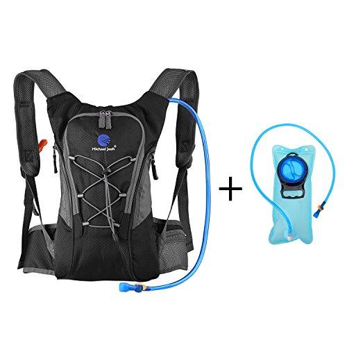 Hydration Rucksack Trinkrucksack(12L) mit Trinkblase(2L) Pack,Trinksystem Backpack Ideal für MTB Fahrrad Radfahren, Wandern, Laufen, Camping , für Reisen Klettern Outdoor Sports