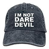 jinhua19 Hüte,Kappen Mützen Denim Baseball Cap I'm Not Daredevil Women Golf Hats Washed Denim Cap