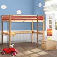 Preisvergleich für Infantastic Hochbett mit Schreibtisch und Leiter Jugendbett Singlebett Kinderbett