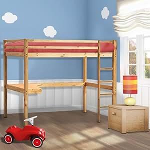 Infantastic lit mezzanine pour enfant 200 x 90 cm en - Lit mezzanine avec bureau integre ...