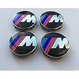 4 embellecedores de aleación con 10 clips para llantas de BMW, 68 mm, diseño de emblema M Power