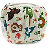 Baby &Toddler Snap Reusable Absorbent Swim Diaper Adjustable &Stylish Fits Diaper Ultra Premium Quality For Eco-Friendly Baby Shower Gifts &Swimming Lessons.. (white)