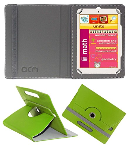 Acm Rotating 360° Leather Flip Case for Eddy Kids Learning Tab Cover Stand Green  available at amazon for Rs.149
