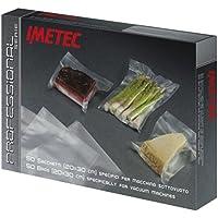 IMETEC 7341M - Bolsas para envasadora al vacío VM 1000, 50 unidades, 20 x