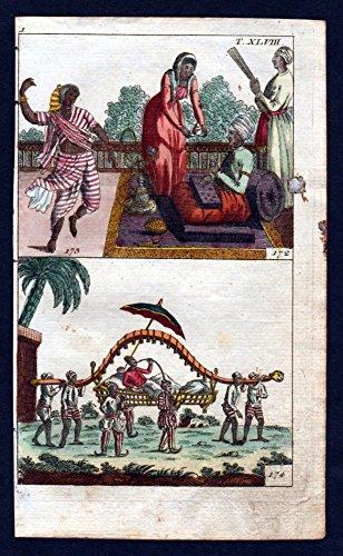 Hindustan Indien India Tracht costume Kupferstich engraving antique (Indien Tracht)