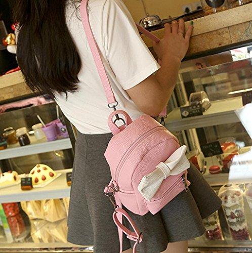 Imagen de  mujer sannysis mujeres bolsos de cuero con cremallera rosa con corbata de lazo  alternativa