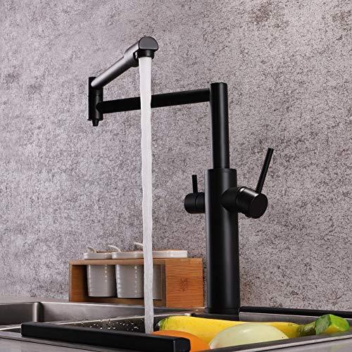 KYS Küche Wasserhahn Dual Griff Trinkwasser Filter Dot Messing Purifier Schiff Waschbecken 360 Grad Rotierenden Klapp Auslauf -