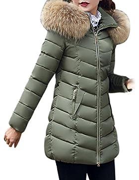 Moda Invierno Mujeres Chaqueta de AlgodóN Largo Caliente Gruesa Chaqueta Slim Coat Abrigo