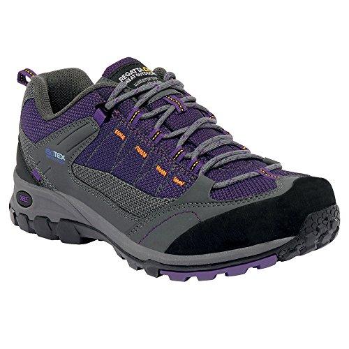Regatta Damen Ultra Max II Low Walking Schuh RRP £70 Granit/Lila