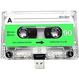 USB Mix cinta, Retro, Quirky, música, fresco, lindo, amor, regalo, novio, novia, 80s, 90s, Danza, Rock, Rnb, Hip Hop, Gadget, Geek, oficina, novedad, cumpleaños, boda, aniversario, Valentines, Navidad, regalos para ella, regalos para él, Thoughtful, unidad flash, casete, Boom Box, cinta, diversión, subir canciones, fotos y vídeos transparente 16 gb