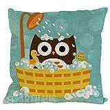Dtuta Zierkissenbezüge,Lustig und süß New Owl Cotton Linen Pillow Case Sofa Cushion Cover Home...