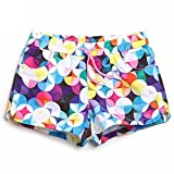 GWELL Damen Wassersport Schwimmen Bikinihose Badeshorts Schwimmshorts Hotpants Muster-A L