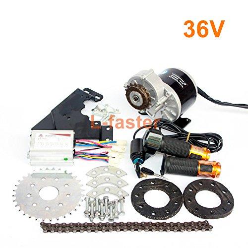 350W motor diesel de la nueva llegada engranada kit del motor eléctrico del derailleur fijó el kit eléctrico variable de la bicicleta de la velocidad múltiple (36V Twist Kit)