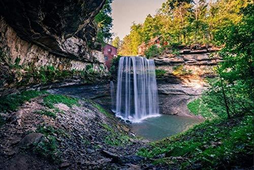 ADDFLOWER Benutzerdefinierte Landschaft Tapete Kanada Wasserfälle Ontario Crag Natur Tapeten, Bar Wohnzimmer Tv Sofa Wand Schlafzimmer 3D Wandbilder @ 300X210Cm_ (118.1_By_82.7_In) _