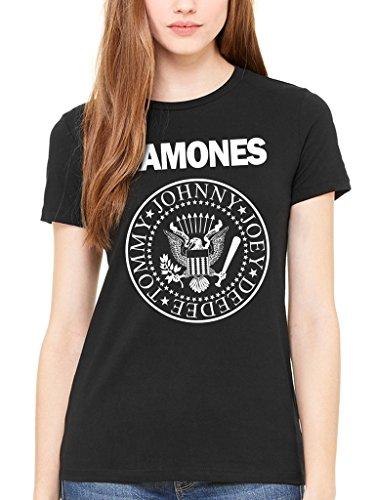 Sello oficial de Ramone gráfico camiseta de mujer Punk Rock...