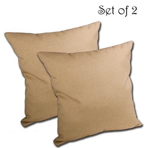 6d x 5H gesponnenes Polyester Outdoor Überwurf Kissen von Komfort Classics INC. (Natur-komfort-kissen)