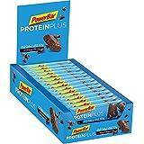 PowerBar Protein Plus Riegel mit nur 107 Kcal – Low Sugar Eiweiß-Riegel, Fitness-Riegel mit Ballaststoffen – Chocolate-Brownie (30 x 35g)