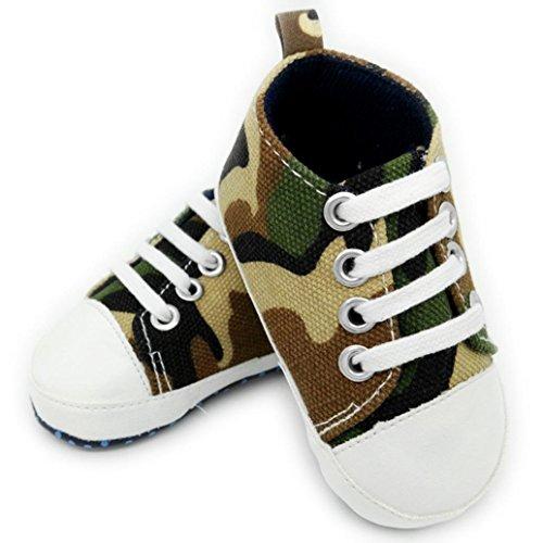Chaussures Bébé,Xinan Chaussures Garçon Fille Cuir Souple Camouflage Chaussures