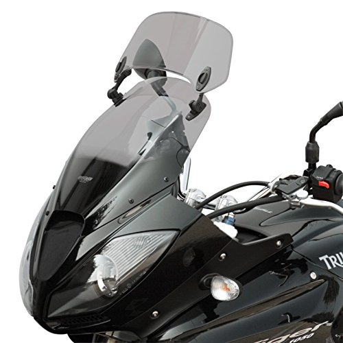 MRA Motorcycle Touring Screen for Triumph Tiger 1050 X-Creen 07-13 Smoke