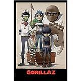 Póster Gorillaz - All Here - cartel económico, póster XXL