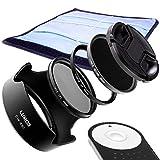 LUMOS Zubehör Set mit Fernauslöser + Gegenlichtblende EW-63C + Polfilter + Slim UV Filter + ND1000 Filter 58mm passt zu Canon Kit EOS 80D 700D 750D 800D + EF-S 18-55 mm is STM