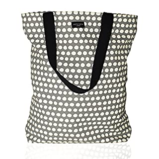 Tasche Shopper DOT GREY grau-weiß gepunktet 100% Baumwolle