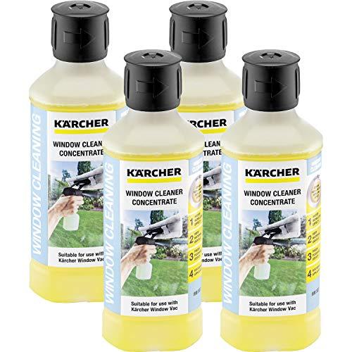 4x Kärcher RM 503 Nettoyant vitres concentré (500 ml) détergent pour nettoyeurs de vitres